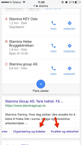 Google AdWords sveipbare linker